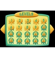 Level selection graphical user interface vector image