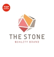 Flat design stone color minimalism quality brand vector image