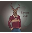 Hand Drawn of Deer Hipster vector image