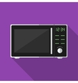 Microwave with long shadow icon vector image