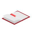 open book isometric vector image