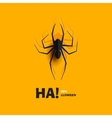 Spider cut out of paper vector image