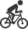 bike rider cycling icon vector image