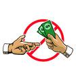 Anti Corruption Hand Sign vector image