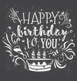 lettering happy birthday vector image