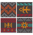 andean knitting pattern vector image vector image