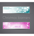 Set of christmas New Year horizontal banners vector image