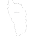 Black White Dominica Outline Map vector image vector image