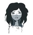 artistic girl vector image