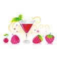 berry liqueur vector image