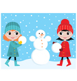 build the snowman vector image