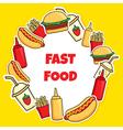 fast food wreath vector image