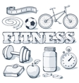 Fitness concept vector image