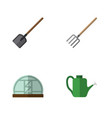 flat icon dacha set of shovel hay fork hothouse vector image