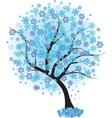 frozen winter vector image