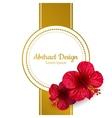 hibiscus flower invitation card vector image
