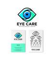 ophthalmology clinic flat logo eye care emblems vector image