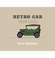 Retro cabriolet car vintage collection vector image