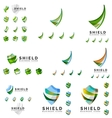 Set of company logotype branding designs shield vector image
