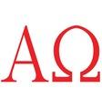 Alpha Omega vector image