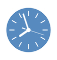 Clock icon in blue circle vector image