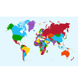 World map colorful countries atlas EPS10 file vector image