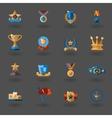 Award flat icons set vector image vector image