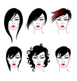 set heaistyle vector image vector image