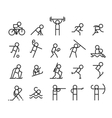 Sport line icons Modern style vector image