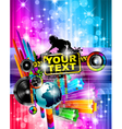 dj poster vector image vector image