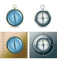 set of different compasses vector image vector image