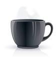 Black hot teacup vector image