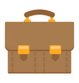 briefcase flat icon business and portfolio vector image