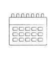 calendar business plan reminder icon vector image
