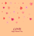 card with roses and congratulations on Valentines vector image