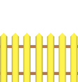 Fence yellow vector image