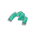 flat cartoon baby knitted scarf vector image