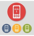 Flat pocket tablet game icons vector image