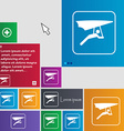 hang-gliding icon sign buttons Modern interface vector image