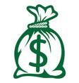 money bag vector image