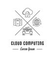 Line Banner Cloud Computing vector image