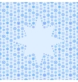 Seamless blue color pattern snowflake or star vector image
