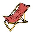 wooden beach chaise icon cartoon vector image