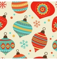 Christmas balls pattern vector image vector image