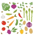 Fresh vegetables set vector image vector image