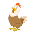 Cartoon Hen vector image vector image