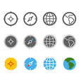 Different circle travel icons clip-art vector image
