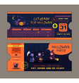 halloween party ticket card template vector image