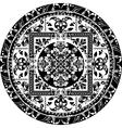 Circular pattern of traditional motifs vector image