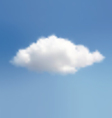 Cloud On A Blue Sky vector image